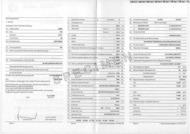 Tout savoir sur le certificat de conformité Bmw